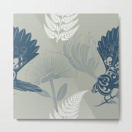 New Zealand Fantail Piwakawaka Bird Metal Print
