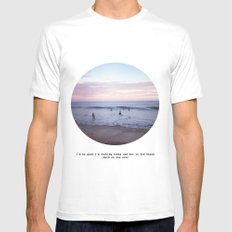 Things people don't say about the beach Mens Fitted Tee MEDIUM White