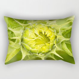Teddy Bear Sunflower Opening Rectangular Pillow