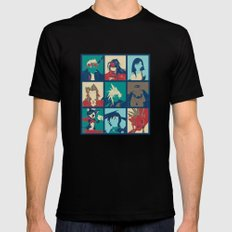 Final Fantasy VII characters POP Mens Fitted Tee Black LARGE