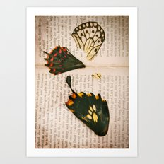 Words like butterflies Art Print
