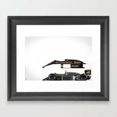 Ayrton Senna, Lotus 98T-Renault, 1986 Framed Art Print