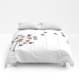Dandelion and butterflies Comforters