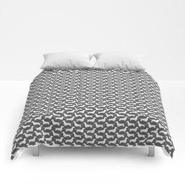 Dachshund Silhouette(s) Comforters