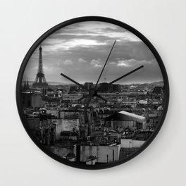 Paris view Wall Clock