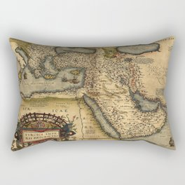 Map Of The Middle East 1600 Rectangular Pillow