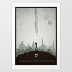 Green Lantern Minimal Poster Art Print