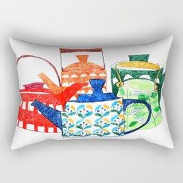 Scandinavian Tea pots Rectangular Pillow