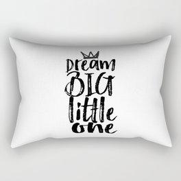 kids room decor,dream big little one,motivational poster,kids gift,nursery decor,bedroom decor Rectangular Pillow