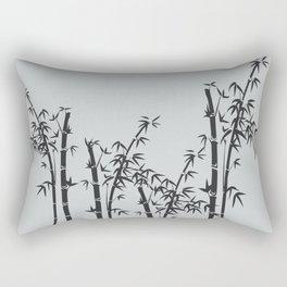 Bamboo black - grey Rectangular Pillow