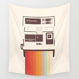 Instant Camera Rainbow Wall Tapestry