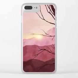 Sunset & landscape Clear iPhone Case