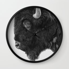 buffalo profile Wall Clock