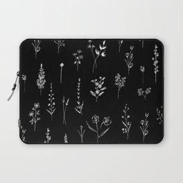 Black wildflowers Laptop Sleeve