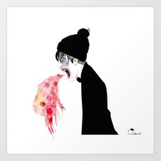 Jealousy Snaking Up Again Art Print