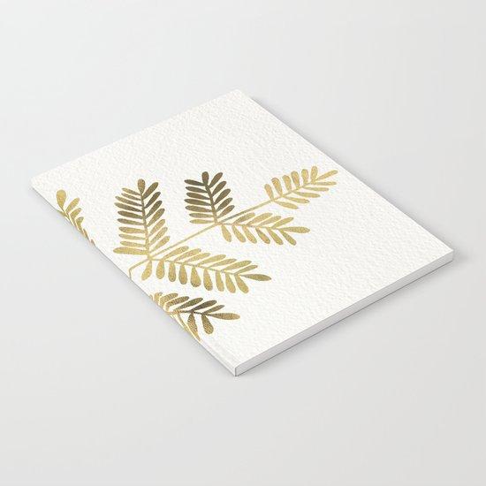 Gold Leaflets Notebook