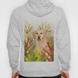 Golden Retriever Dog Garden Hoody