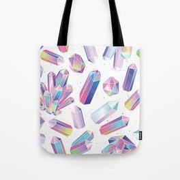 Purple Crystals Tote Bag
