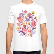 The Garden Crew Mens Fitted Tee X-LARGE White