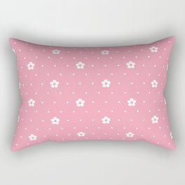 Delicate Pink Flower Pattern Rectangular Pillow