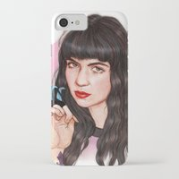 grimes iPhone & iPod Cases featuring Grimes III  by Helen Green