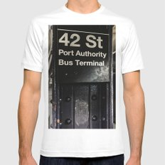 42nd street subway stop Mens Fitted Tee White MEDIUM