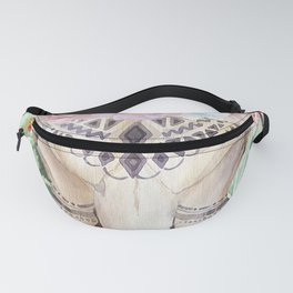 Skull boho and triangles Fanny Pack