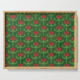 Spring Roses Pattern Serving Tray