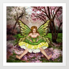 Green Fairy Art Print