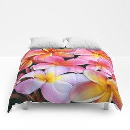 Pink Plumerias Comforters