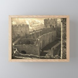 CONWY CASTLE CONWAY WALES Framed Mini Art Print