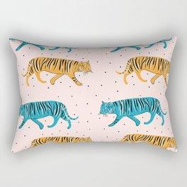 Tiger Parade Rectangular Pillow