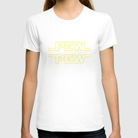 T-shirts featuring Pew Pew v2 by BomDesignz