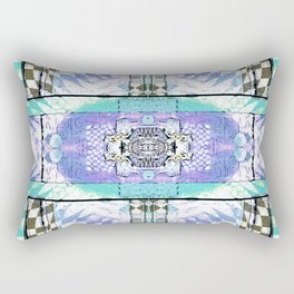 Soul Door Number Four Contemporary Psychedelic Abstract Rectangular Pillow