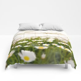 White herb camomiles clump Comforters