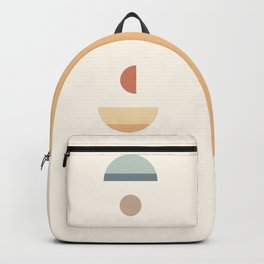 Abstraction Shapes 15 in Neutral Shades (Moon Phases Abstraction) Backpack