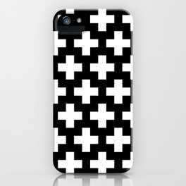 Swiss Cross W&B iPhone Case