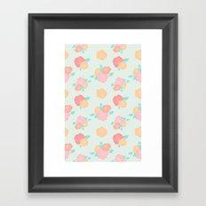 Pastel floral Framed Art Print