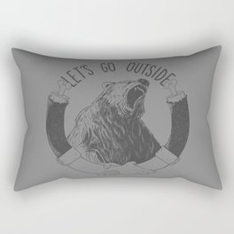 LET'S GO OUTSIDE Rectangular Pillow