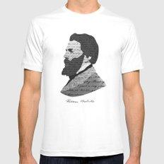Herman Melville Mens Fitted Tee MEDIUM White