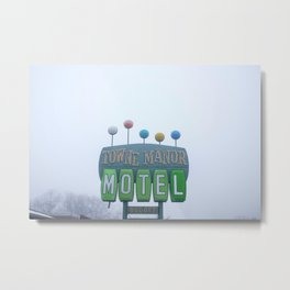 Towne Manor Motel Metal Print