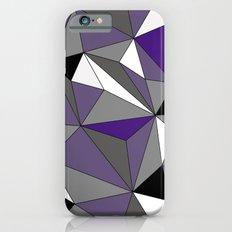 Geo - purple, gray, black and white iPhone 6s Slim Case