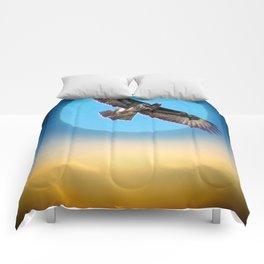 Moments - Full Moon - Sunset Comforters