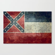 Mississippi State Flag, Distressed version Canvas Print