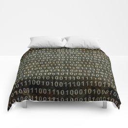 The Binary Code - Dark Grunge version Comforters