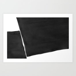 Minimal Black and White Abstract 03 Art Print