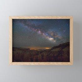 Fairyland Canyon Starry Night Photography Framed Mini Art Print