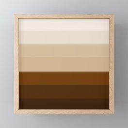 Coffee Liqueur and Cream Mix - Abstract Framed Mini Art Print