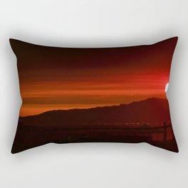 Modern Red Skies At Night Rectangular Pillow