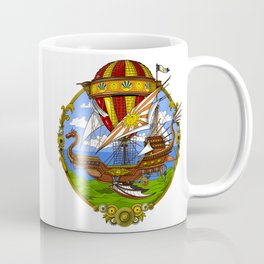 Steampunk Air Balloon Coffee Mug